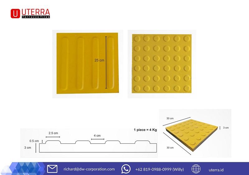 guiding-block-uterra-dot-type-line-type-ukuran-ketebalan-warna-kuning